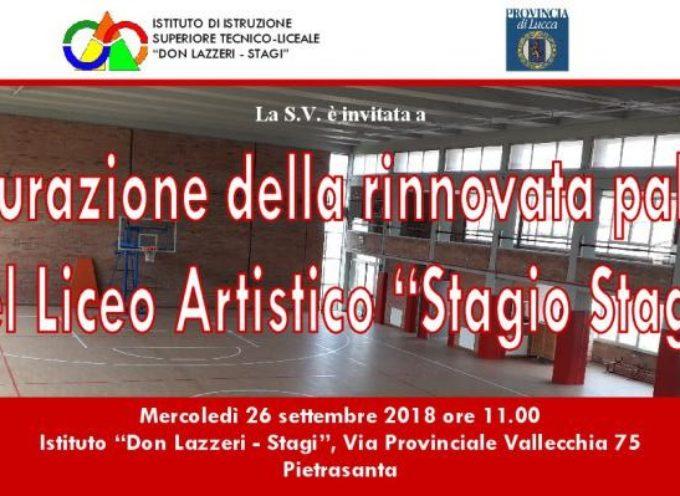 Si inaugura domani –  la nuova palestra dell'istituto  STAGI-DON LAZZERI di Pietrasanta