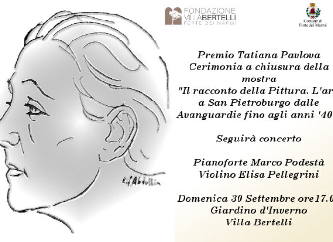 Villa Bertelli conquista il Premio Pavlova. La consegna, alla cerimonia di chiusura della mostra