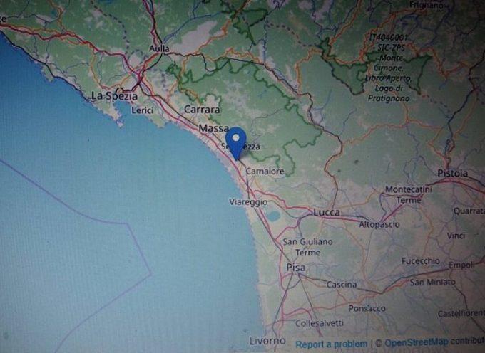 Scossa di terremoto in Versilia
