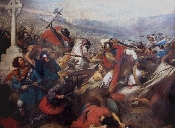 Accadde oggi: 10 Ottobre 732, la Battaglia di Poitiers, Carlo Martello ferma gli Arabi-Berberi musulmani alla conquista dell'Europa