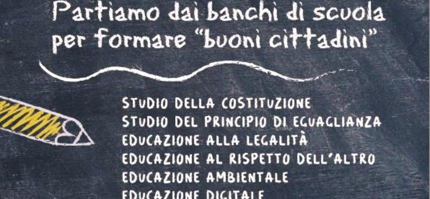 ALTOPASCIO – RACCOLTA FIRME  PER SOSTENERE LA LEGGE  SU L'EDUCAZIONE COME MATERIA DI SCUOLA