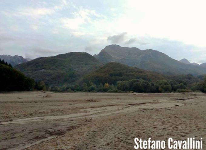 Così si presenta il lago di gramolazzo in Garfagnana