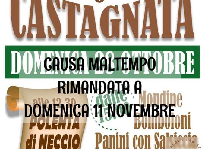 La Castagnata di domani a Roccalberti è stata rimandata a domenica 11 novembre