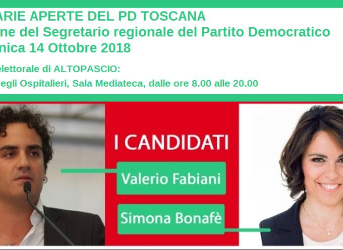 PRIMARIE APERTE DEL PARTITO DEMOCRATICO DELLA TOSCANA: