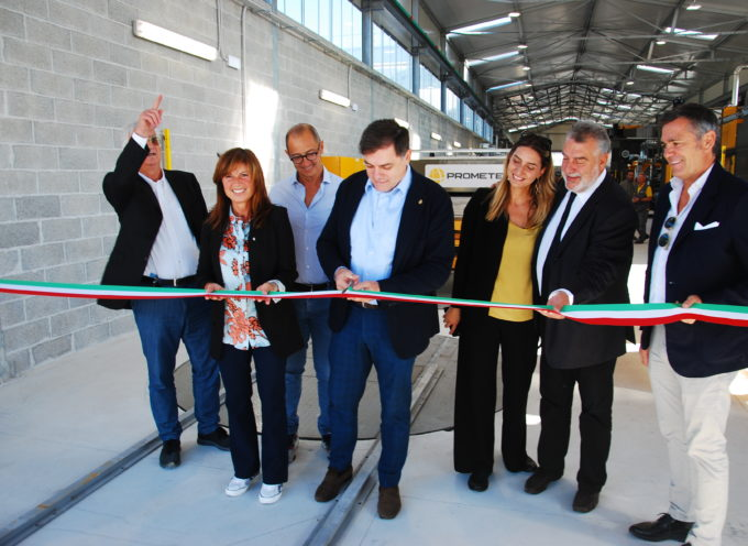 Lapideo: amministrazione al fianco imprese, sindaco all'inaugurazione nuovo impianto 4.0 Savema
