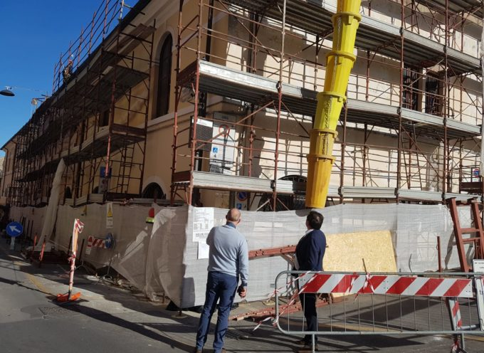 S. Agostino: sindaco visita cantiere, in futuro ospiterà ampliamento Museo dei Bozzetti