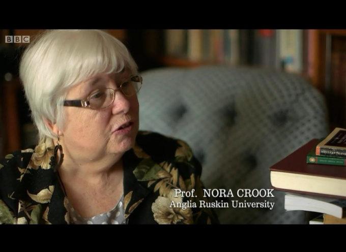 Nora Crook a Carrara, la più importante studiosa inglese di Frankenstein