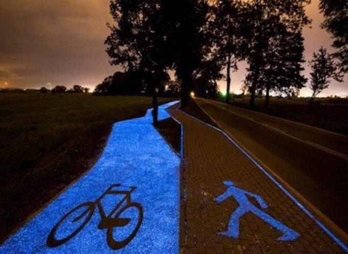 A Borgo la prima strada in Toscana con asfalto luminescente