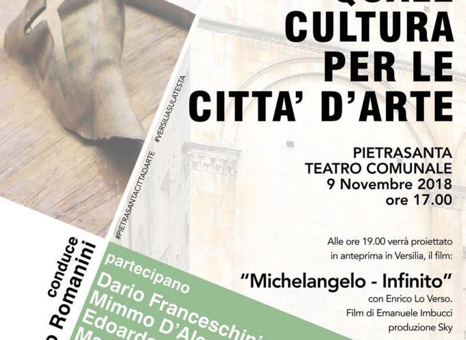Quale cultura per le città d'arte: a Pietrasanta grandi ospiti per parlare di patrimonio culturale e sviluppo