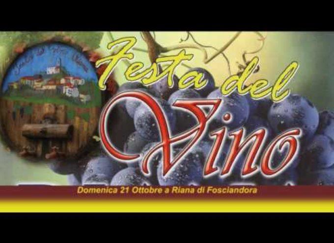 Domenica 21 Ottobre a Riana di Fosciandora c'è la Festa del vino