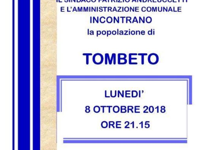 L'amministrazione comunale di Borgo a Mozzano incontra i cittadini di Tombeto