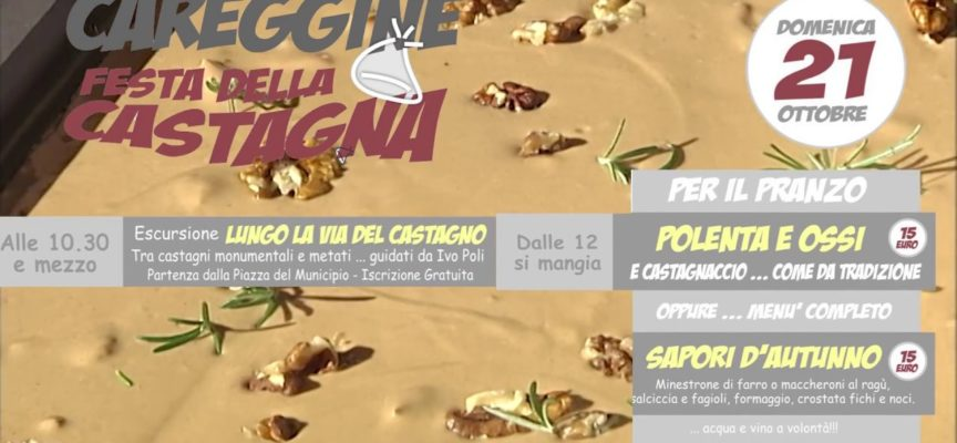 Domenica 21 Ottobre Festa della Castagna a Careggine[VIDEO]