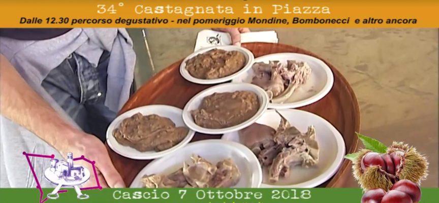 Domenica 7 Ottobre 2018 34° Castagnata in Piazza a Cascio