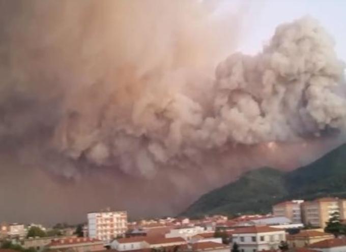 Si contano i danni sul monte Serra