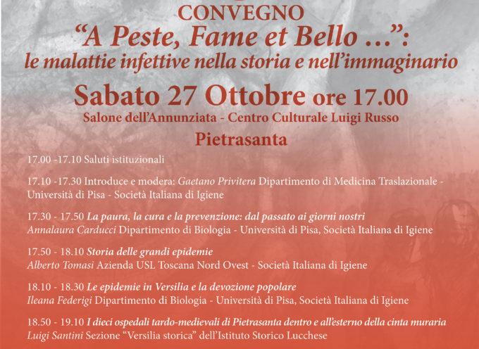 Madonna del Sole: le malattie infettive in Versilia,nella storia e nell'immaginario, convegno a Pietrasanta con esperti