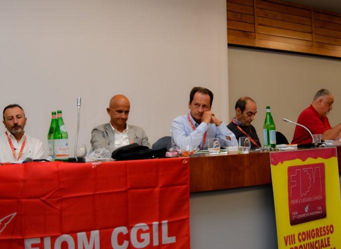 L'ottavo congresso della Fiom Cgil provinciale di Lucca del 28 settembre scorso,