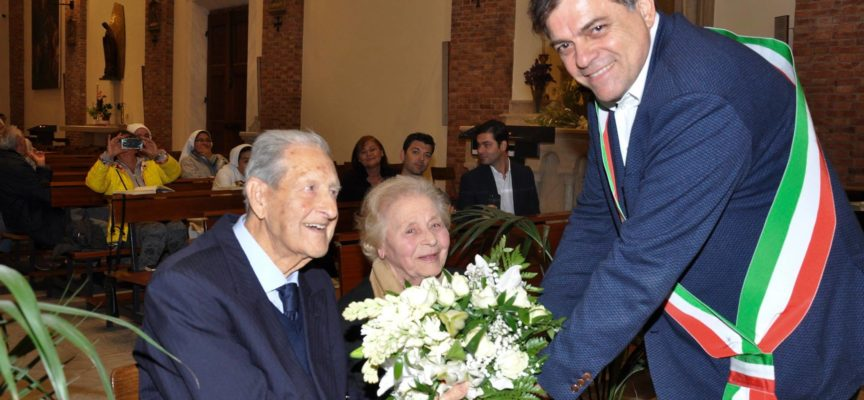 """70 anni insieme. Un record quello raggiunto da Pietro Papi e Ileana Lemmi detta """"Lilla""""."""