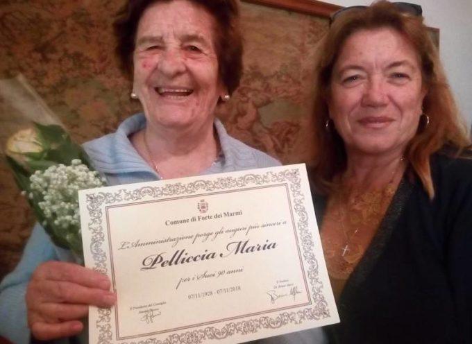 forte dei marmi – Ieri la signora Maria Pelliccia ha compiuto 90 anni.