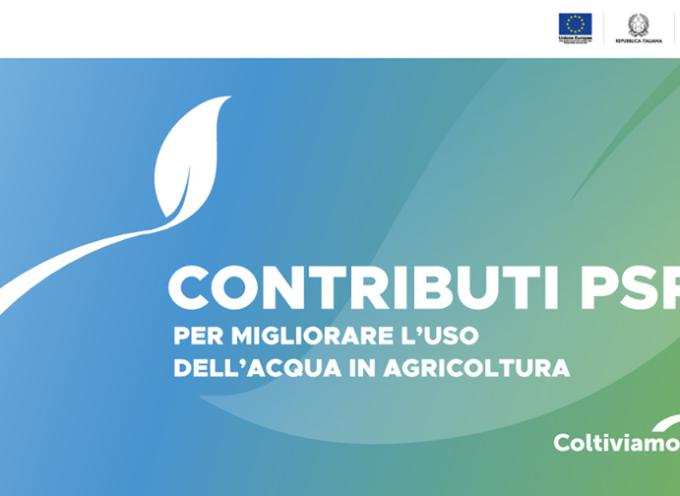 9 milioni di euro di contributi per migliorare la gestione delle risorse idriche aziendali e consortili