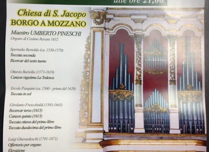Concerto per organo a Borgo a Mozzano.