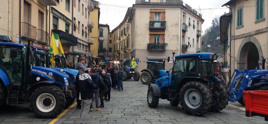 A CASTELNUOVO DI GARFAGNANA MEGA RADUNO DI TRATTORI PER LA GIORNATA DEL RINGRAZIAMENTO.