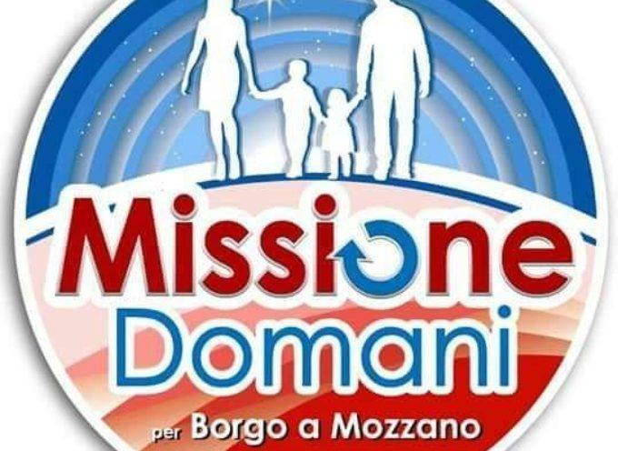 MISSIONE DOMANI SI RIUNISCE PER COSTRUIRE IL PROGRAMMA DEL FUTURO DI BORGO A MOZZANO