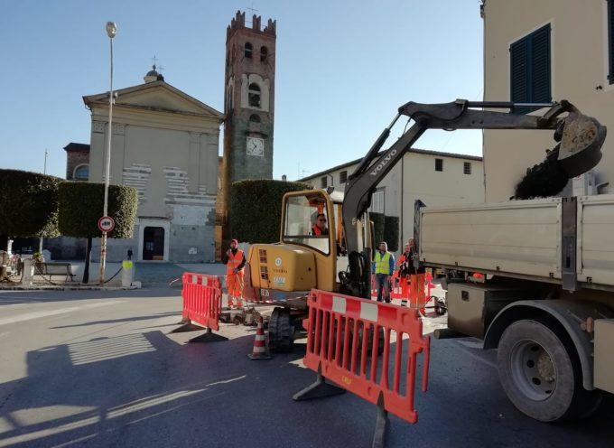 Sono iniziati i lavori a Lammari, in via Lombarda,