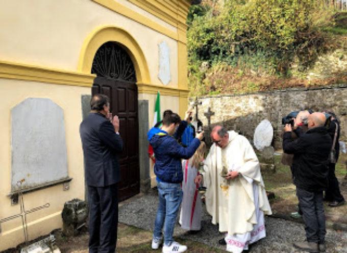 Gallicano, inaugurati i restauri al cimitero vecchio[VIDEO]