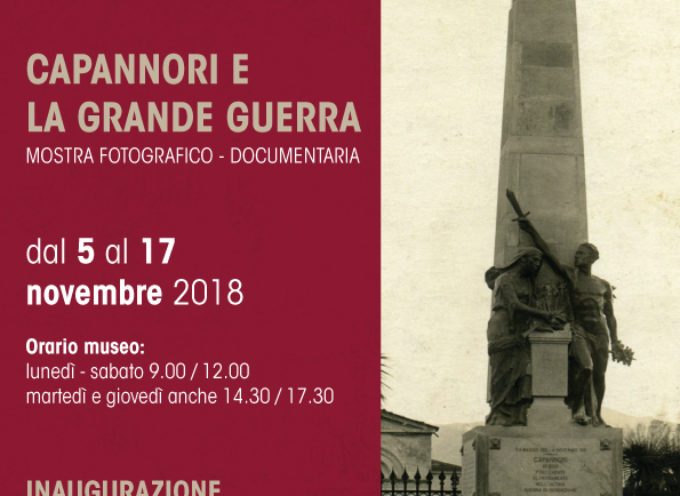 """""""CAPANNORI E LA GRANDE GUERRA"""": AL MUSEO ATHENA INAUGURA LA MOSTRA FOTOGRAFICO-DOCUMENTARIA"""