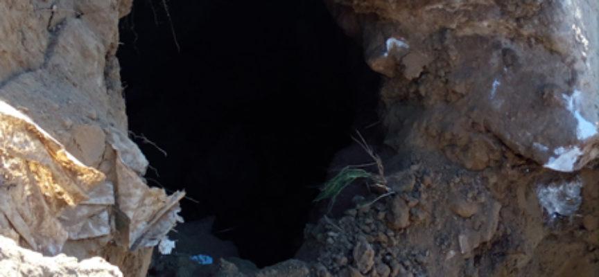 Pietrasanta:Durante i lavori all'arginvecchio il Consorzio scopre una caverna dentro l'argine