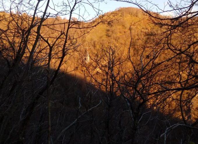 le fiamme sono state spende sul monte piglione