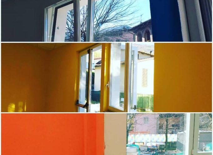 BORGO A MOZZANO Le aule della scuola dell'infanzia prendono progressivamente colore.