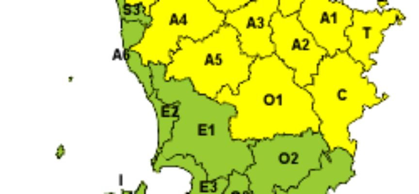 codice giallo per neve e ghiaccio valido dalle ore 12 alle 23.59 di domani, domenica 16 dicembre 2018.
