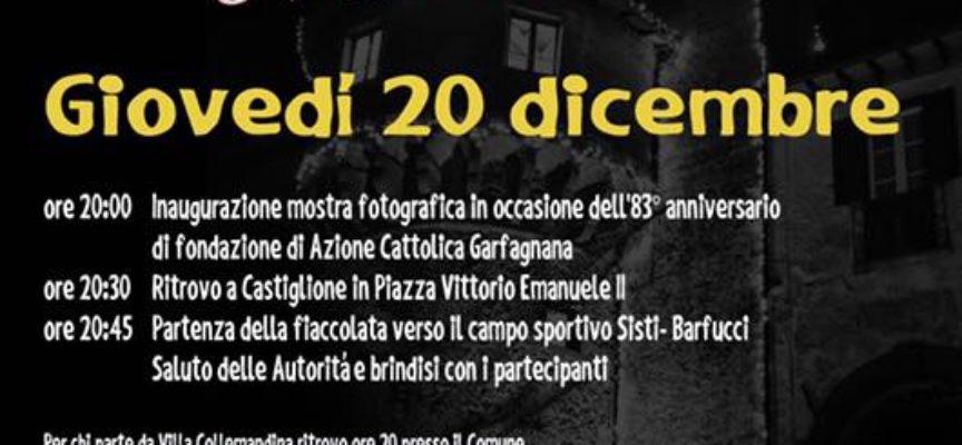 Stasera tutti alla fiaccolata e al falò di Natale a Castiglione di Garfagnana.