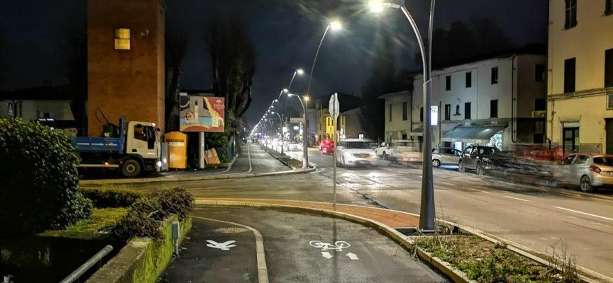 lluminato il nuovo tratto di pista ciclopedonale di Sant'Anna
