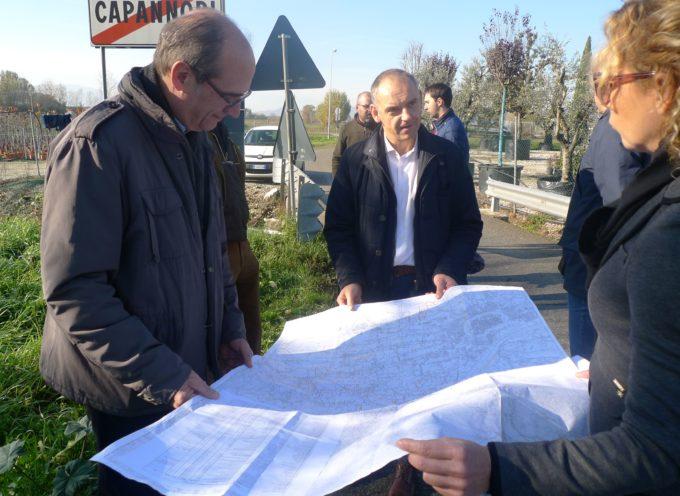 """CAPANNORI – """"Canalette irrigue: più acqua per l'agricoltura, più sicurezza idraulica"""""""