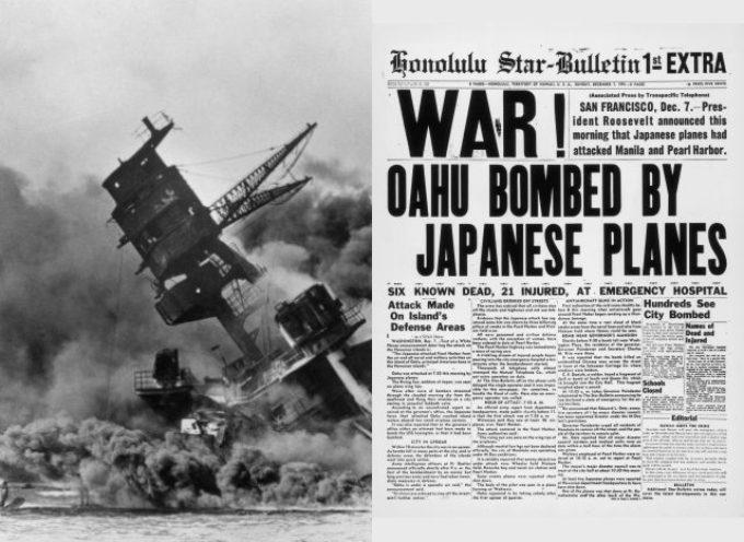 Accadde oggi, 7 Dicembre: 1941, l'incomprensibile attacco giapponese a Pearl Harbour: il karakiri dell'Asse!