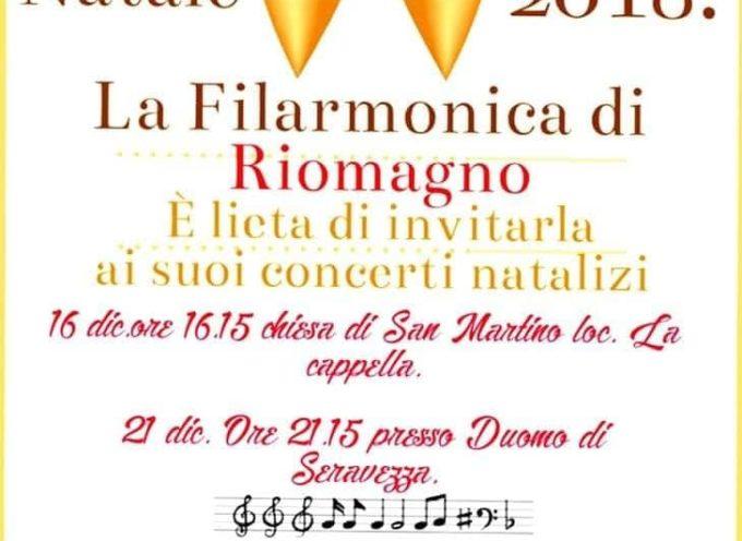 Date dei concerti natalizi della Filarmonica di Riomagno