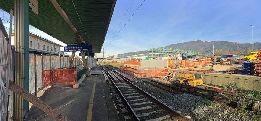 Stazione ferroviaria: procedono spediti i lavoriper il collegamento pedonale con il parcheggio all'ex terminal merci.