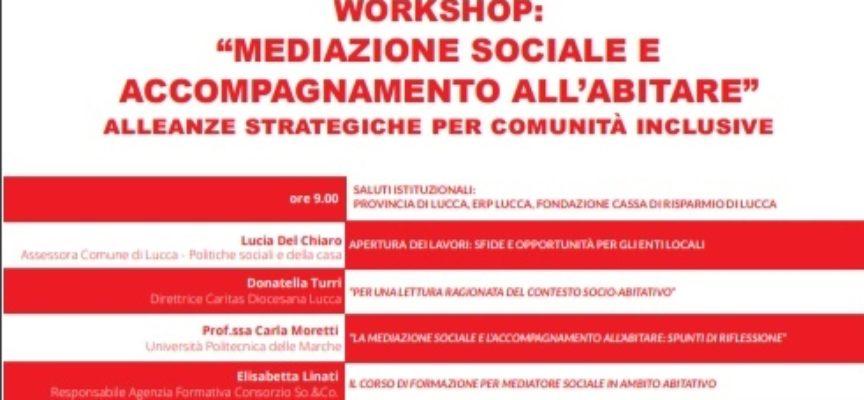 """GIORNATA DI STUDIO A PALAZZO DUCALE SU  """"MEDIAZIONE SOCIALE E ACCOMPAGNAMENTO ALL'ABITARE"""""""