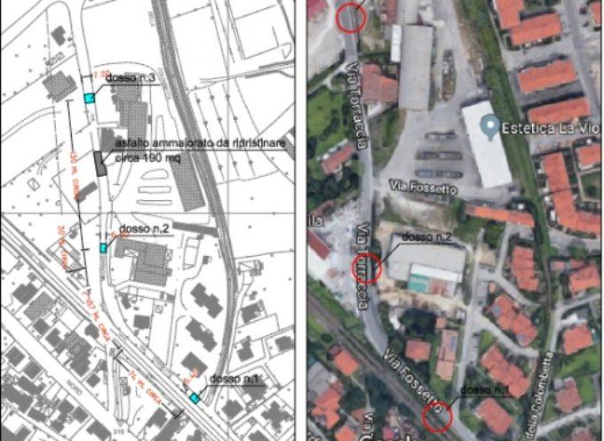 Pontestrada: via Torraccia – via Fossetto, via libera agli attraversamenti pedonali rialzati e ripristino stradale di un tratto danneggiato