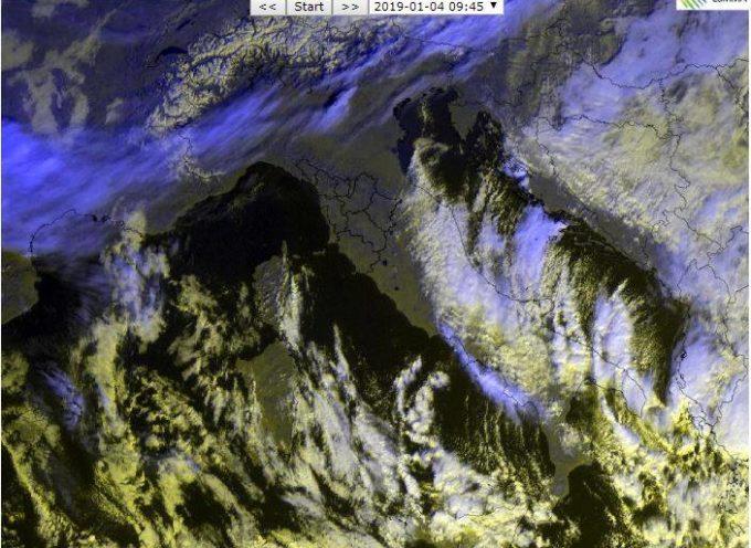 il Meteo per la Valle del Serchio del LAMMA Toscana.. aggiornamento al  4 gennaio