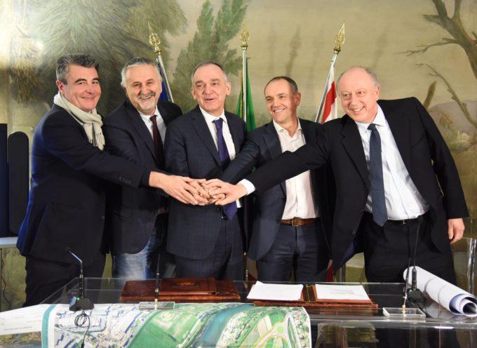 Poco fa in Regione è stato firmato l'Accordo di Programma per il nuovo ponte sul fiume Serchio.