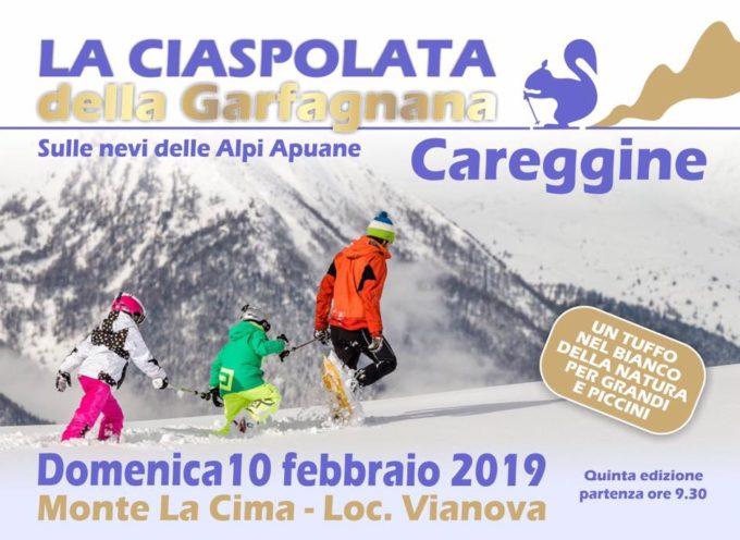 In Garfagnana si può anche sciare e ……… ciaspolare!!  A CAREGGINE