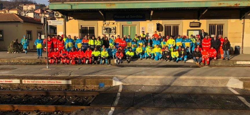ieri  si è svolto il Corso di formazione di Protezione Civile e soccorso sanitario in ambito ferroviario