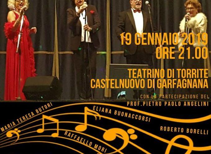 Sabato 19 Gennaio presso il Teatrino di Torrite (castelnuovo di Garfagnana) Il Salotto Lucchese in concerto