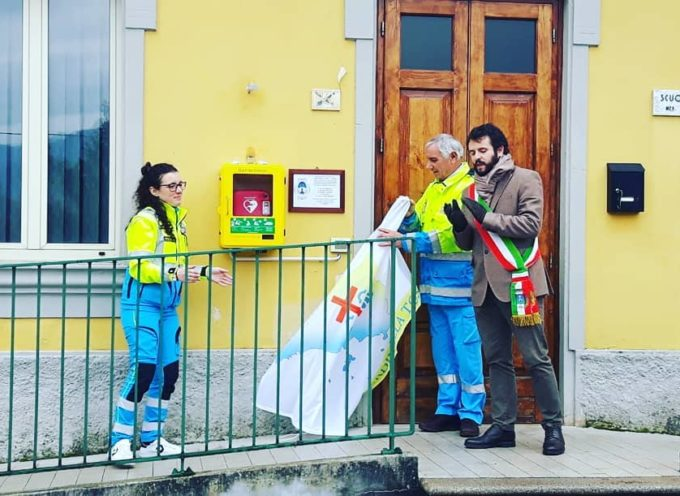 ieri mattina, a Piano della Rocca abbiamo inaugurato un nuovo defibrillatore