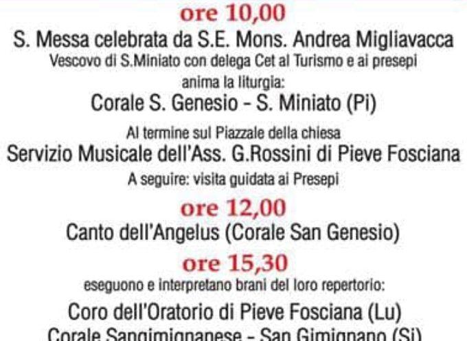 Domenica 20 gennaio durante la messa a Pieve Fosciana il Vescovo di S.Miniato consegnerà il Testimonial di terre di Presepi
