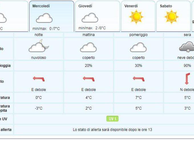 Meteo per la Valle del Serchio del LAMMA Toscana.. aggiornamento 22 gennaio