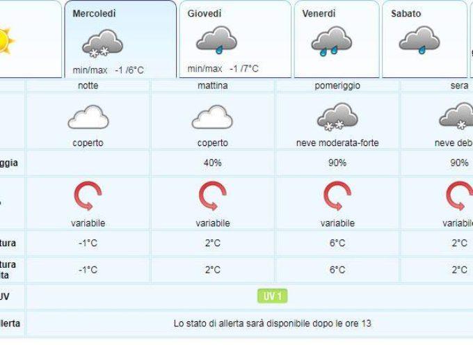 IL Meteo per la Valle del Serchio del LAMMA Toscana.. aggiornamento al 29 gennaio